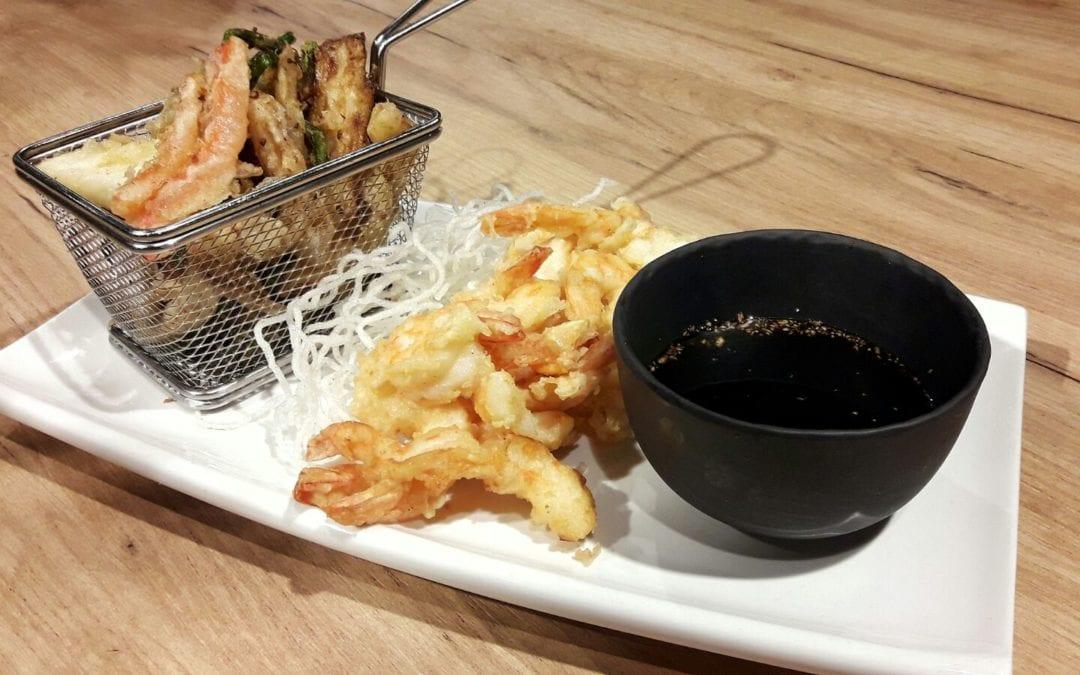 Receta de tempura de verduras y langostinos