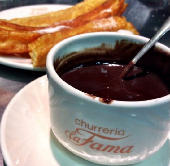 chocolate con churros en Zaragoza