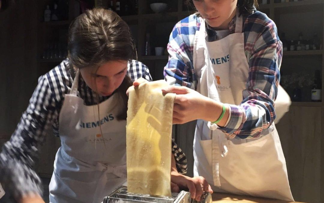 Campus de cocina para niños en Semana Santa en La Zarola