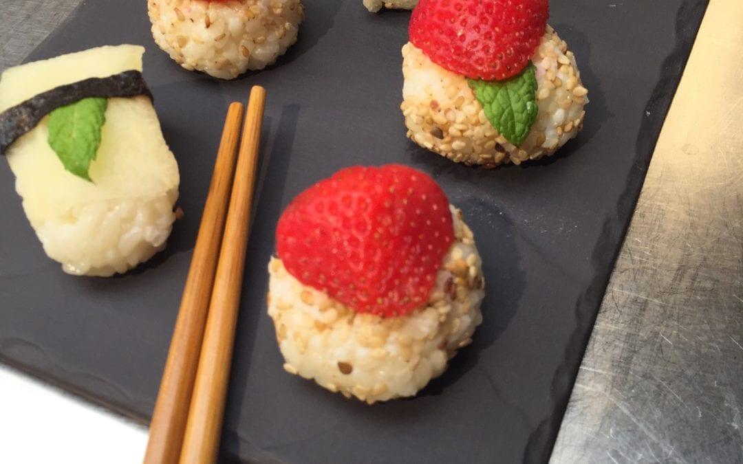 Original receta de sushi de frutas