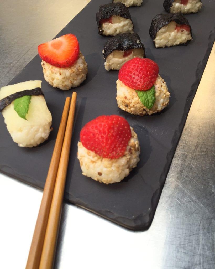 sushi de frutas