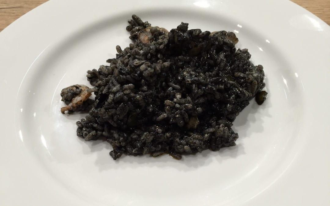 Receta de arroz negro de sepia y gambas
