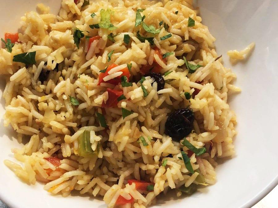 Receta de arroz pilaf con frutos rojos
