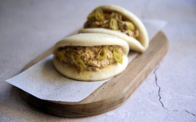 Receta: Bao de codillo en escabeche con salsa miel y mostaza