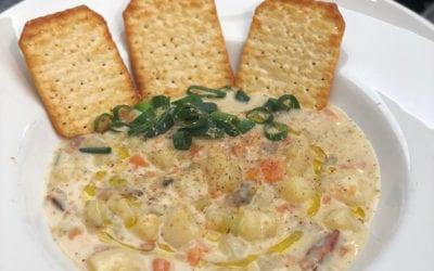 Recetas diferentes: Clam chowder o sopa cremosa de almejas y bacon