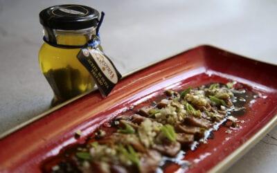 Recetas: Tataki de cerdo ibérico con vinagreta de trufa
